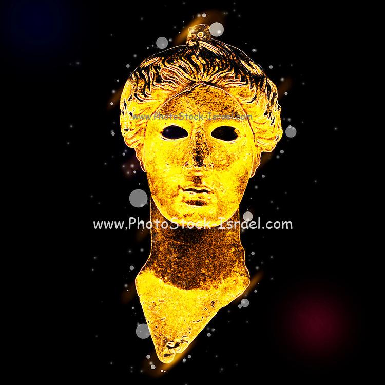 Greece, Athens, The Greek Agora museum in the Stoa of Attalos. Bronze head of Nike (victory) 420 BCE. Digitally enhanced