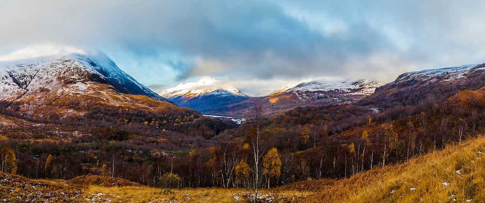 The mountain view from stage one of the Kinlochleven Enduro.