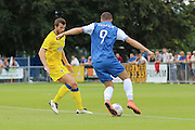 AFC Wimbledon defender Jon Meades (3) defends deep during the Pre-Season Friendly match between Margate and AFC Wimbledon at Hartsdown Park, Margate, United Kingdom on 16 July 2016. Photo by Stuart Butcher.