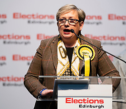 Edinburgh, Scotland, UK. 12th December 2019. Joanna Cherry MP after winning Edinburgh South West constituency at Parliamentary General Election Count at the Royal Highland Centre in Edinburgh. Iain Masterton/Alamy Live News