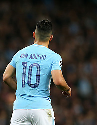 Sergio Aguero of Manchester City - Mandatory by-line: Matt McNulty/JMP - 26/09/2017 - FOOTBALL - Etihad Stadium - Manchester, England - Manchester City v Shakhtar Donetsk - UEFA Champions League Group stage - Group F