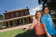Young Couple exploring Tocal House near Maitland, NSW, Australia