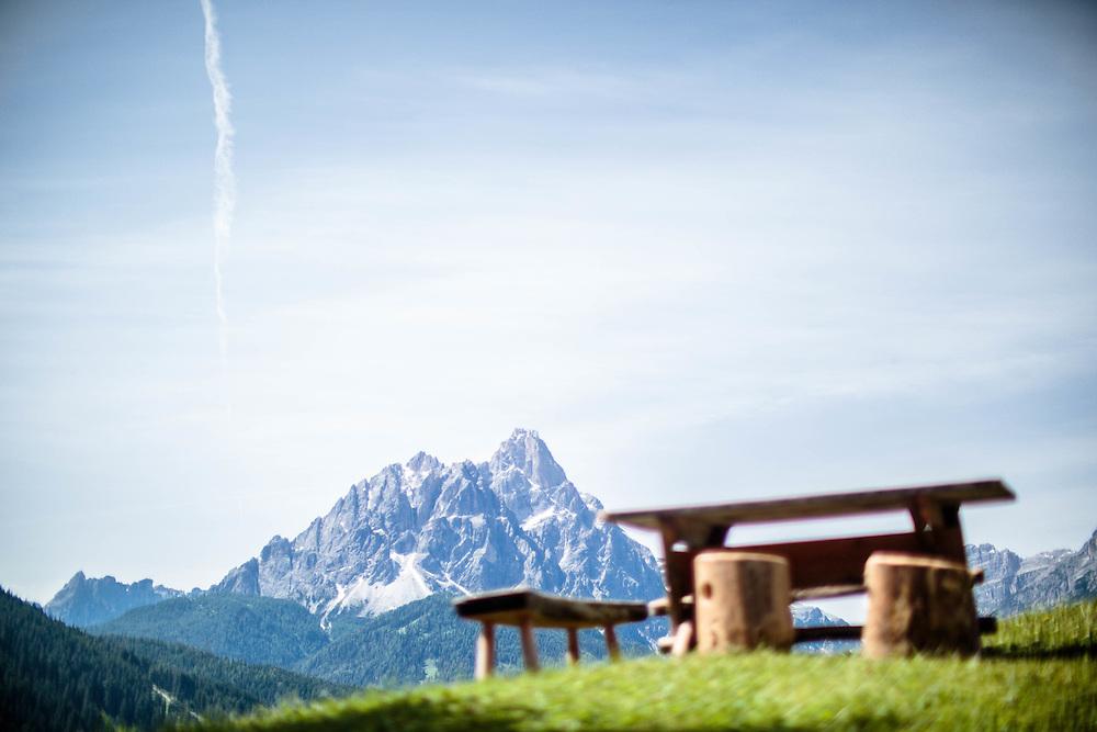 04 JUL 2014 - Prato alla Drava, San Candido (BZ) - Presso la baita Schneider
