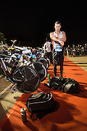 Cameron BROWN (NZL) Prepares Transition In The Pre Dawn. Ironman Asia Pacific Championship Melbourne. Triathlon. Frankston And St Kilda, Melbourne, Victoria, Australia. 24/03/2013. Photo By Lucas Wroe