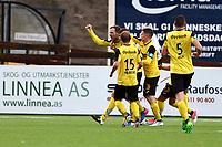 Fotball ,Post-nord ligaen ,  <br /> 10.09.17<br /> Nammo Stadion<br /> Raufoss v HamKam 2-0<br /> Foto : Dagfinn Limoseth , Digitalsport<br /> Anton Heningsson , Raufoss jubel etter scoring