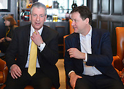 © Licensed to London News Pictures. 09/03/2013. Brighton, UK. Mike Thornton MP Eastleigh (L) and Leader of the Liberal democrats and Deputy Prime Minister Nick Clegg at the Liberal Democrat Spring Conference in Brighton today 9th March 2013. Photo credit : Stephen Simpson/LNP