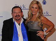 (l-r) Dr. Arnold Klein with Adrienne Maloof Nassif. Dr. Paul Nassif and Adrienne Maloof Nassif hosted a party in their home to honor Dr. Arnold Klein, and celebrate the opening up a new office for Dr. Klein's dermatology practice. Beverly Hills, CA 11-4-2011. Photo by John McCoy.