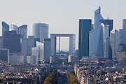 Paris, France. October 10th 2010..View of Paris from the top of the Arc de Triomphe.