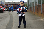 Young Rochdale supporter pre-match during the EFL Sky Bet League 1 match between Rochdale and Gillingham at Spotland, Rochdale, England on 23 September 2017. Photo by Daniel Youngs.