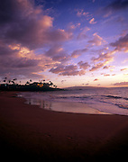 Sunset, Wailea Beach. Maui, Hawaii