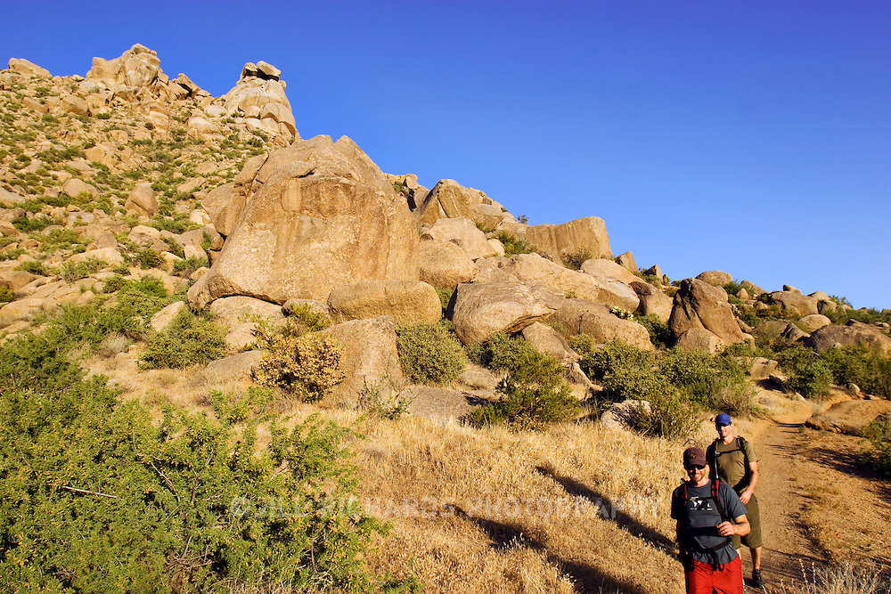 An extensive trail system awaits hikers and walkers in the McDowell Mountain Regional Park in North Scottsdale, Arizona. The park offers more than 50 miles of multi-use trails for hiking, biking and horseback riding.