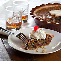 Harlen Wheatley's Kentucky Pie Creation, Bourbon Pecan Chocolate Pie