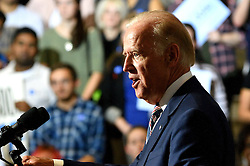 Vice President Joe Biden gives a speech at a Voter Registration Rally at Drexel University, in Philadelphia, Pennsylvania.