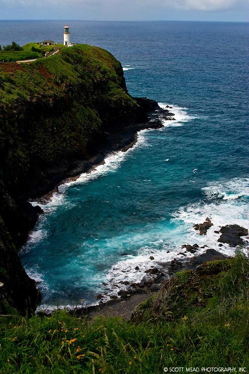 Kilauea Point Lighthouse, near bird sanctuary, Kauai, Hawaii