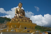 BU00011-00...BHUTAN - Buddha statue under construction above Thimphu. This Buddha Dordenma will be the world's largest at 192.6 feet tall.