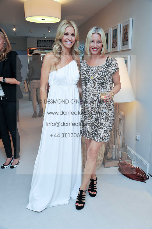 Left to right, MELISSA ODABASH and DENISE VAN OUTEN at the opening of the new Melissa Odabash store in Walton Street, London SW3 on 7th July 2011.