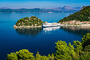 Ferry docked at Sobra, Mljet Island, Dalmation Coast, Croatia
