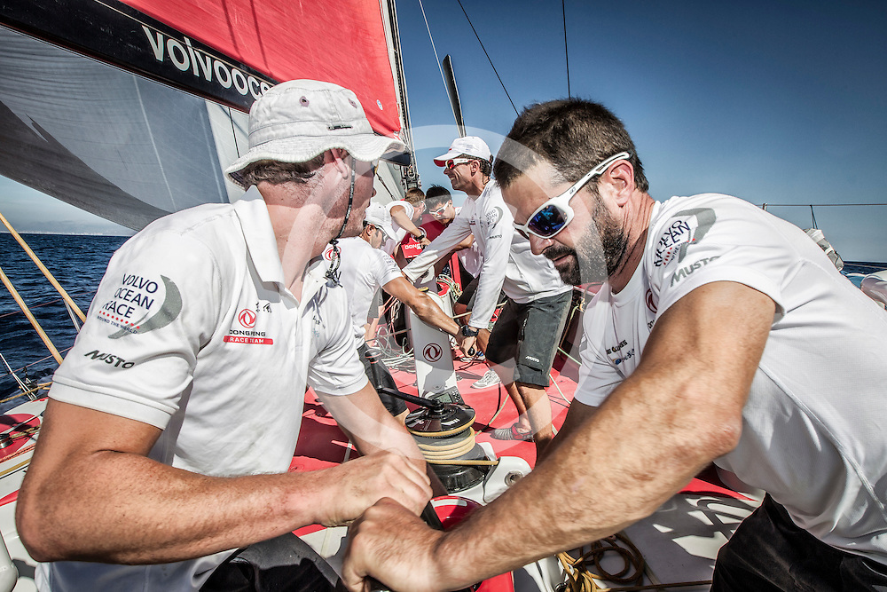 October 10,2014. Dongfeng Race Team training in Alicante before the Start of the Volvo Ocean Race.