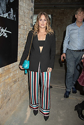 Rosie Fortescue at 'Shadowman' Richard Hambleton Private View and After Party hosted by Andy Valmorbida and Maddox Gallery, held at 26 Leake Street Tunnels, London SE1 England. 12 September 2018.