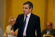 Francois Fillon during political meeting in Brussels