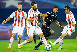 Luka Milivojevic #5 of Olympiakos during football match between GNK Dinamo Zagreb and Olympiakos in Group F of Group Stage of UEFA Champions League 2015/16, on October 20, 2015 in Stadium Maksimir, Zagreb, Croatia. Photo by Urban Urbanc / Sportida