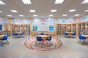 Interiot photo of Cardinal Sheehan School Library by Jeffrey Sauers of Commercial Photographics, Architectural Photo Artistry in Washington DC, Virginia to Florida and PA to New England