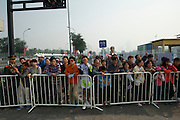 Fans on the perimeter of Olympic Stadium, where the cyclists left the start area - 2011 Tour of Beijing, Stage 1 ITT