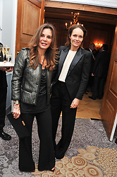 Left to right, CAROLINE de ROSNAY and SOPHIE de PICCIOTTO at the 4th Fortune Forum Summit held at The Dorchester Hotel, Park Lane, London on 4th December 2012.