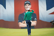 Justin Rose of England walks onto the 18th hole during the British Masters 2018 at Walton Heath Golf Course, Walton On the Hill, Surrey on 12 October 2018. Picture by Martin Cole.