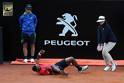 May 14, 2018 - Rome, Rome, Italy - 14th May 2018, Foro Italico, Rome, Italy; Italian Open Tennis; Gael Monfils (FRA) falls on the court during his match lost 6-3, 6-1 against Fabio Fognini (ITA)  Credit: Giampiero Sposito/Pacific Press  (Credit Image: © Giampiero Sposito/Pacific Press via ZUMA Wire)
