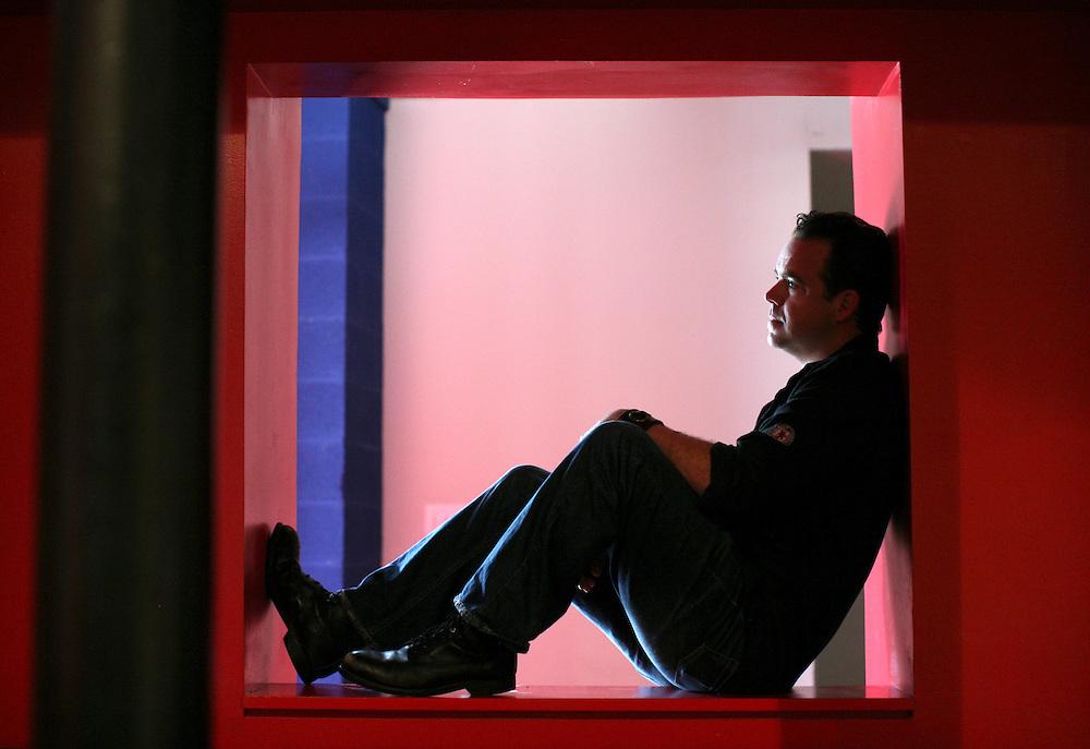 Actor Max Hartman photographed at McKinney Avenue Contemporary in Dallas, TX.