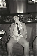 Man sleeping, Conservative Conference. Bournemouth. October 1986.