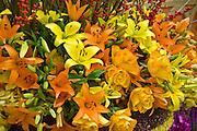 Yellow Peach mixed Flowers