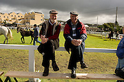Bertie Martin, Mullingar  and Jimmy Campbell, Longford at the 85th Annual Connemara Pony Show 2009 at the showgrounds in Clifden, Co. Galway.  Photo:Andrew Downes.