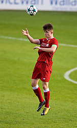 BIRKENHEAD, ENGLAND - Wednesday, November 1, 2017: Liverpool's captain Ben Woodburn during the UEFA Youth League Group E match between Liverpool and NK Maribor at Prenton Park. (Pic by David Rawcliffe/Propaganda)