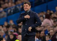 Football - 2018 / 2019 Europa League - Group L: Chelsea vs. FC BATE Borisov<br /> <br /> Alyaksey Baha, Head Coach FC BATE Borisov, watches his team struggle at Stamford Bridge.<br /> <br /> COLORSPORT/DANIEL BEARHAM