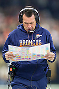 NEW ORLEANS, LA - NOVEMBER 13:  Head Coach Gary Kubiak of the Denver Broncos on the sidelines during a game against the New Orleans Saints at Mercedes-Benz Superdome on November 13, 2016 in New Orleans, Louisiana.  The Broncos defeated the Saints 25-23.  (Photo by Wesley Hitt/Getty Images) *** Local Caption *** Gary Kubiak