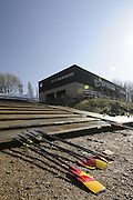 Chiswick. London. Tideway Scullers boathouse,  looking from the foreshore, 2011 Women's Head of the River Race, Mortlake to Putney, over the  Championship Course. Saturday  19/03/2011 [Mandatory Credit, Peter Spurrier/Intersport-images]