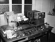 Arms and radio transmitter seized by Gardai.16/04/1958