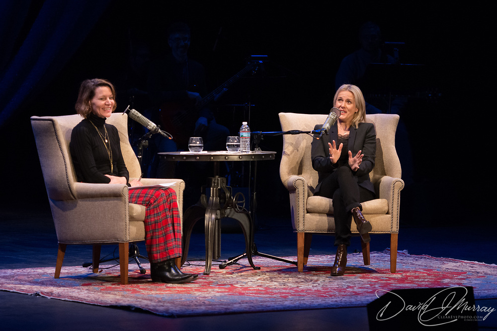 NHPR's Virginia Prescott interviews Jojo Moyes in a Writers On A New England Stage show at The Music Hall in Portmouth, NH.