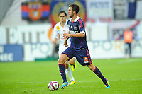 FOOTBALL - FRENCH CHAMPIONSHIP 2011/2012 - L1 - STADE BRESTOIS 29 v OLYMPIQUE LYONNAIS - 20/08/2011 - PHOTO PASCAL ALLEE / DPPI - MIRALEM PJANIC (OL)