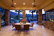 Outdoor view of mountain from patio in luxury villa