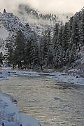 Salmon River, River, Salmon, Winter, Ice, Snow, Idaho