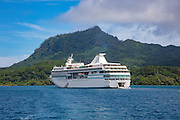 Paul Gauguin, cruise ship, Maroe Bay, Huahine, French, Polynesia