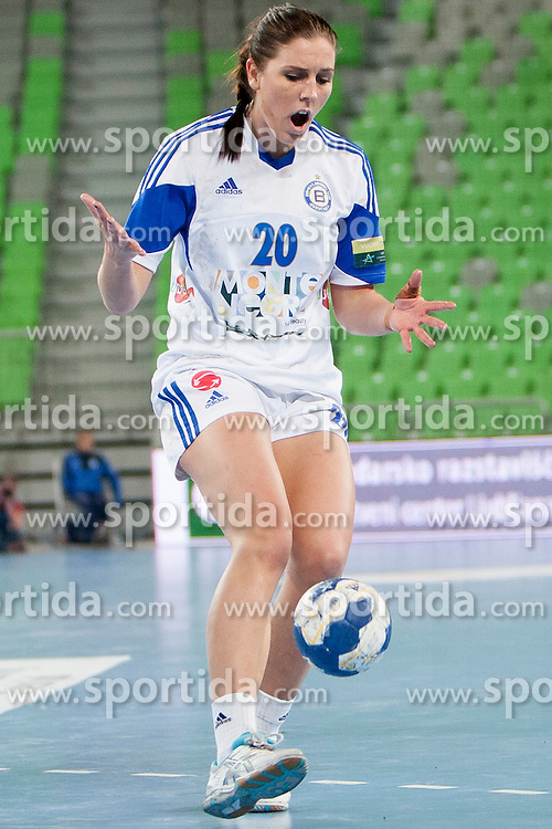 Camilla Dalby #20 of ZRK Buducnost during handball match between RK Krim Mercator (SLO) and ZRK Buducnost (MNE) in 6th Round of Main Round of Women's EHF Champions League 2013/14  on March 15, 2014 in SRC Stozice, Ljubljana, Slovenia. Photo by Urban Urbanc / Sportida.com