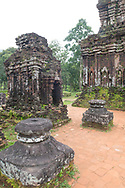 Stone carvings on the ruins of Cham temples at the My Son Sanctuary, Quang Nam Province, Vietnam, Southeast Asia