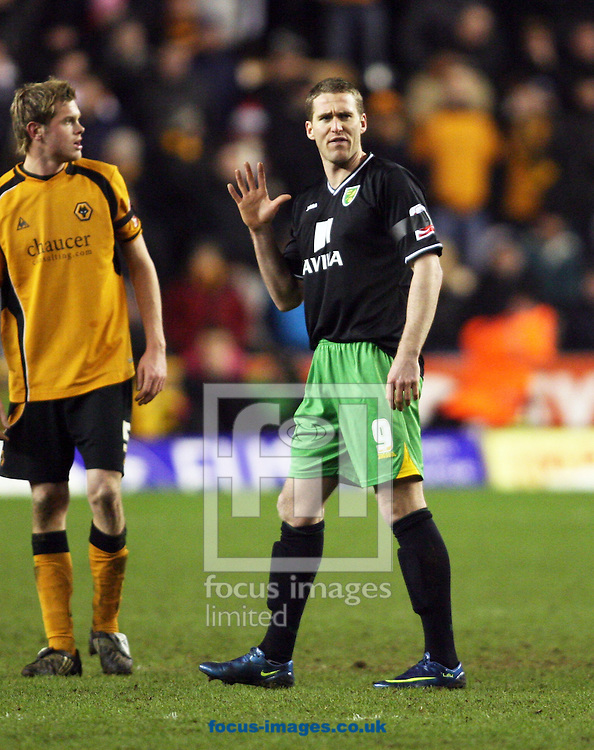 Wolverhampton - Tuesday February 3rd, 2009: Chris Killen of Norwich City during the Coca Cola Championship match at Molineaux, Wolverhampton. (Pic by Chris Ratcliffe/Focus Images)