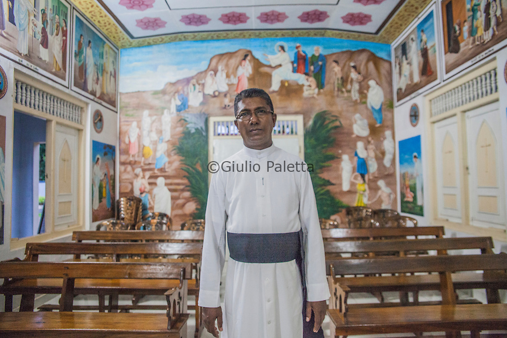 Father Charles Hewawasam was the pastor of Matara at the time of the Tsunami. He was celebrating the Holy Mass on the day of the tsunami when three large waves entered the church, destroying everything.<br /> Father Charles dealt first hand the recovery of the church and the community helped to overcome this human drama