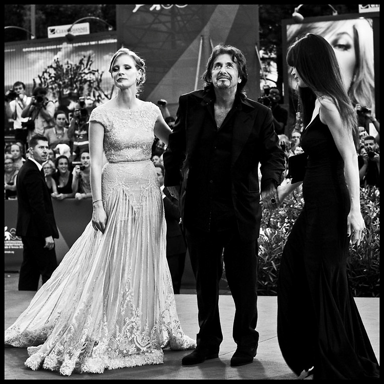Al Pacino and Lucila Sola receives the Jaeger LeCoultre glory to the filmmaker award during the 68th International Venice Film Festival