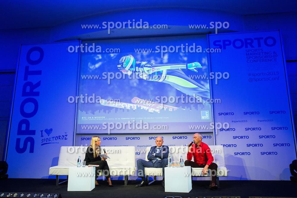 Joze Mermal (BTC) and Gorazd Penko (BTC City Ljubljana) during Sports marketing and sponsorship conference Sporto 2015, on November 20, 2015 in Hotel Slovenija, Congress centre, Portoroz / Portorose, Slovenia. Photo by Vid Ponikvar / Sportida
